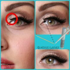 Tip #6: Rescue the Inner Corner! Even the best fake lashes by Minki Lashes may come off and stick out as the most movement on the eyelid from blinking and facial expressions happens right in that delicate spot. CLICK on the image to learn how to fix that inner corner problem with false lashes.