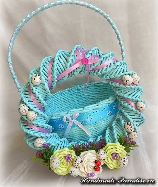 Easter Wreath Basket - paper rolling tutorial