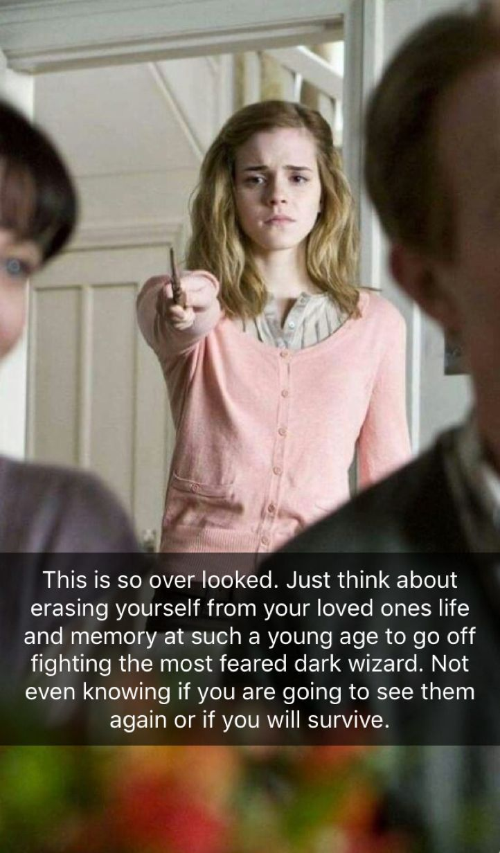 This took a lot of guts from Hermione and this is why she is a Gryffindor at heart