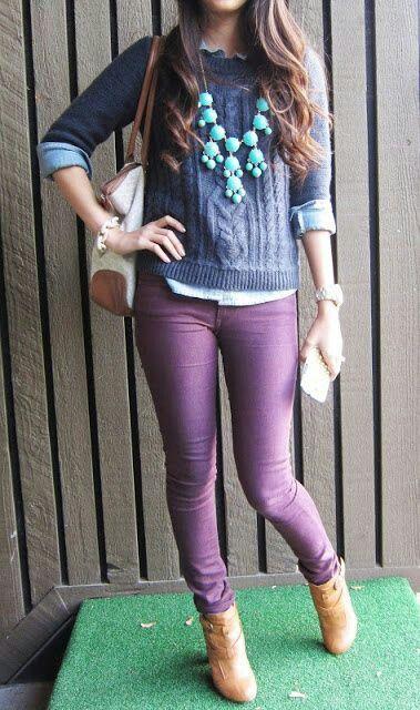Pin by Emerald Veltum on Mix and Match | Purple pants