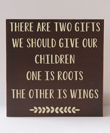 This Brown & Cream 'Two Gifts' Wall Sign by Vinyl Crafts is perfect! #zulilyfinds