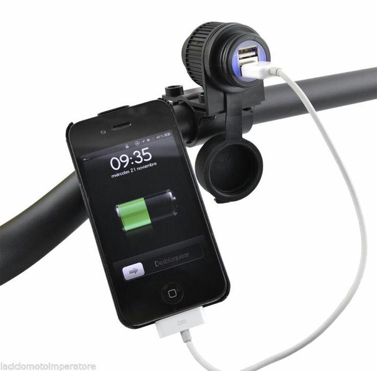 PRESA USB 12V PER #MOTO CON ATTACCO AL #MANUBRIO  22,00€ - facile da installare - dotato di #cavo di #collegamento alla #batteria - #impermeabile - doppia uscita #usb #CARICABATTERIE