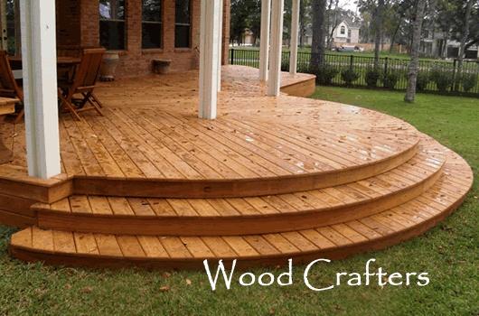 Hardwood and pressure treate pine wood decks
