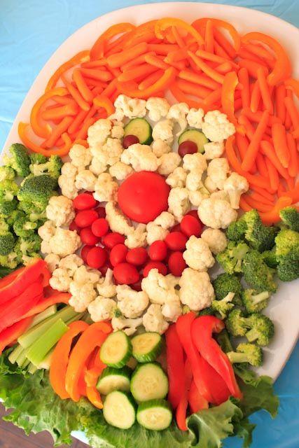 Anniversaire cirque en mode diététique - Clown de légumes crus