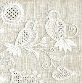 Calado en Deshilado (siciliano) Drawn Fabric Embroidery