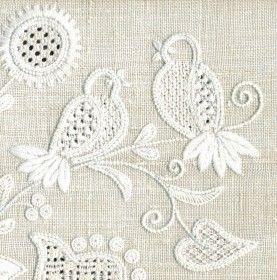 Calado en Deshilado (siciliano) Drawn Fabric Embroidery