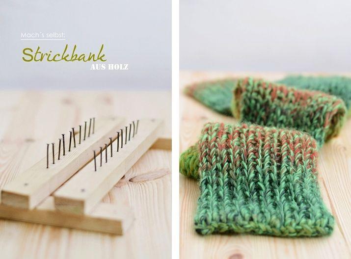 s i n n e n r a u s c h: [Nachmachtipp] Wir stricken einen Schal + Strickbank DIY