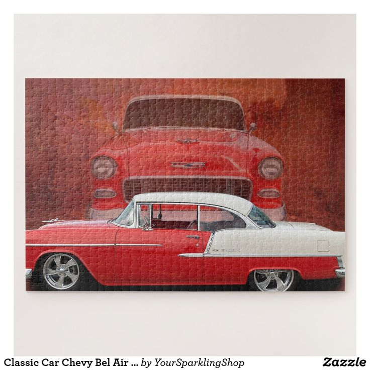 #ClassicCar Chevy Bel Air Red Vintage #Oldtimer Jigsaw Puzzle  #JustSold #ThankYou :)