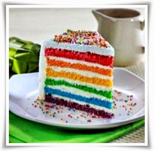 Resep Cara MeBuat Rainbow Cake Kukus Yang EnakCake, Kue, Roti