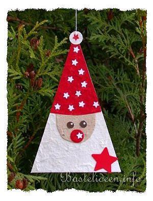 Basteln Mit Kindern Weihnachtsbasteln Baumanhanger Nikolaus