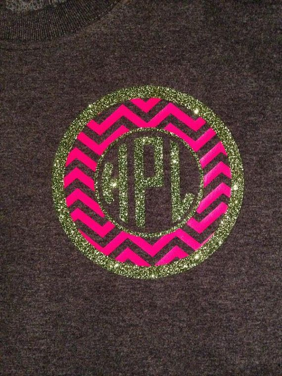 Glitter Flake and Neon! Does it get any better? Use heat transfer materials and a heat press to make yours.