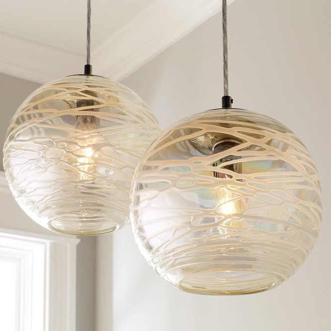 Check Out Swirling Glass Globe Pendant Light From Shades Of