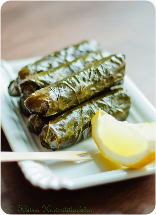 "Greek Dolmas - My darling mother-in-law used to make this with ""tender"" grape leaves. I've bought it in a can and it's terrible - the veins on the leaves are like wood - very disappointing. I'm going to try 'steaming' it to try and tenderize the leaves. We shall see! :("
