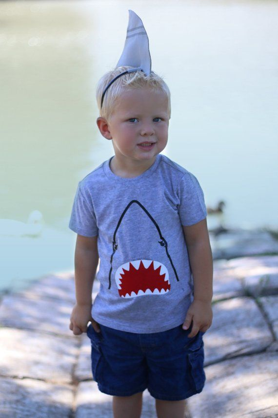 6329f6d73 Kids Shark Halloween Costume Shark Birthday Party Outfit Baby ...