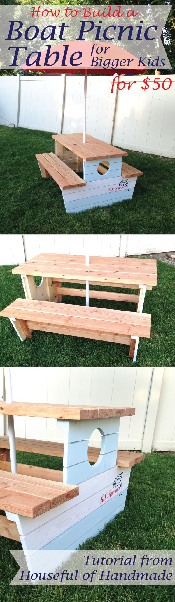 Picnic Table Plans Pirate Picnic Table Plans Octagon Picnic Table - How to build a nautical picnic table for bigger kids kids picnic table plansdiy