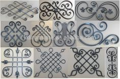 2015 New Design Wrought Iron Panels For Fence Gate Wholesale