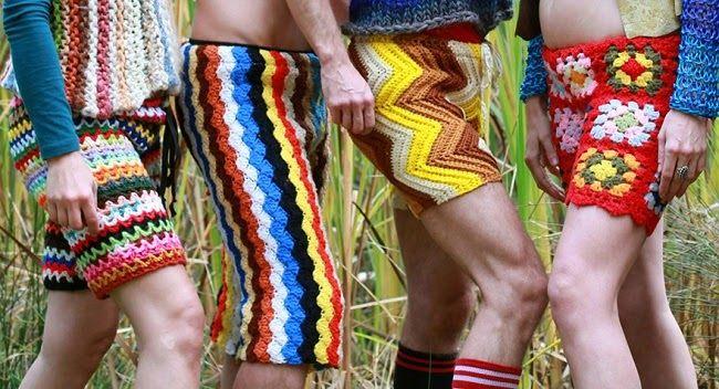 Η Νέα Τάση της Μόδας για τους Άνδρες: Πλεκτά Σορτς από Vintage Κουβέρτες