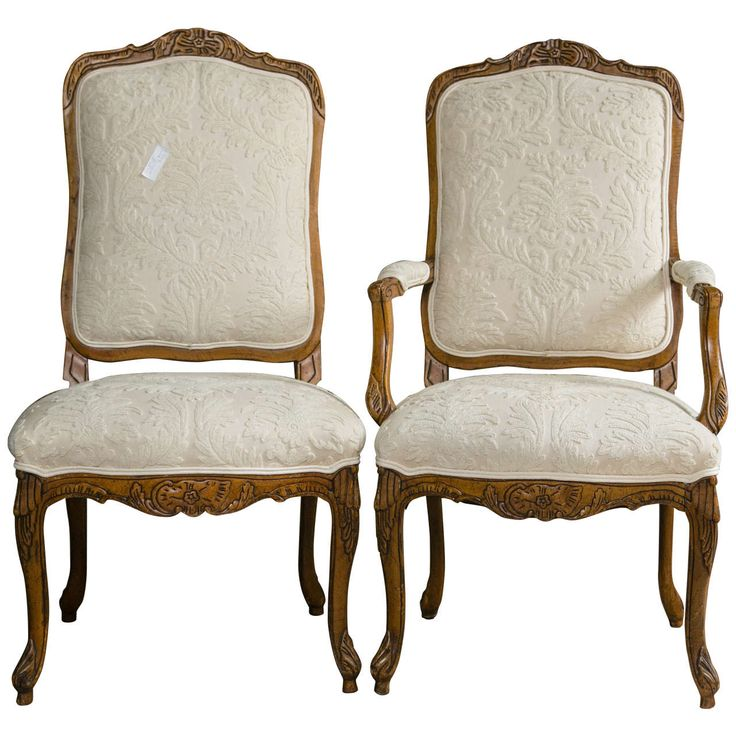Set of 12 Louis XV Style High Back Dining Chairs | From a unique collection of antique and modern dining room chairs at https://www.1stdibs.com/furniture/seating/dining-room-chairs/
