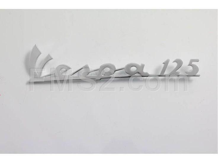 Targhetta Vespa 125 in alluminio (Olympia), ricambio 58279