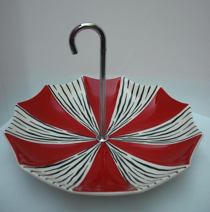 midwinter zambesi umbrella cake stand, jessie tait. from ebay.