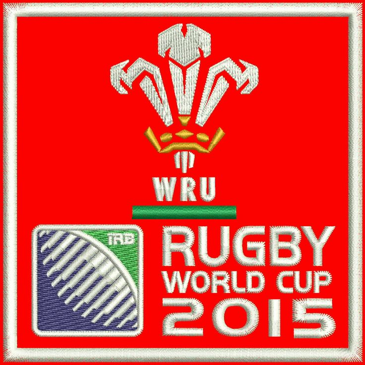 """Wales Rugby Team Logo Embroidery Design  4""""x4"""" and 5""""x7"""" by StudioEmbroideryShop on Etsy https://www.etsy.com/listing/513557394/wales-rugby-team-logo-embroidery-design"""