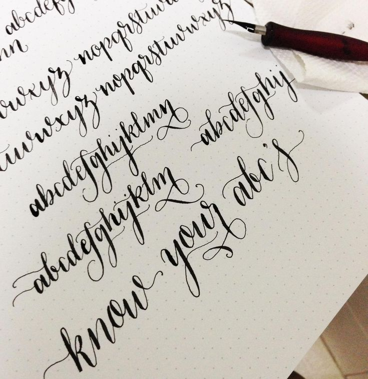 Best calligraphy alphabets images on pinterest