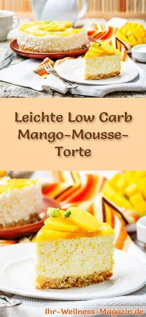leichte low carb mango quark mousse torte rezept ohne zucker backen pinterest low carb. Black Bedroom Furniture Sets. Home Design Ideas