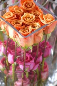 Beautiful Look..Layered Rose Centerpiece....