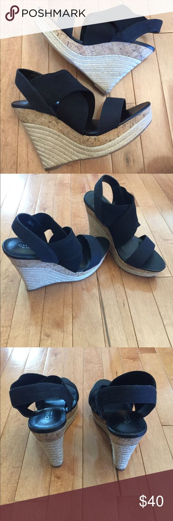NWT Charles by Charles David Sz 9.5 Funky Sandals New! Charles David Size 9.5 Wedge Sandal. Charles David Shoes Wedges