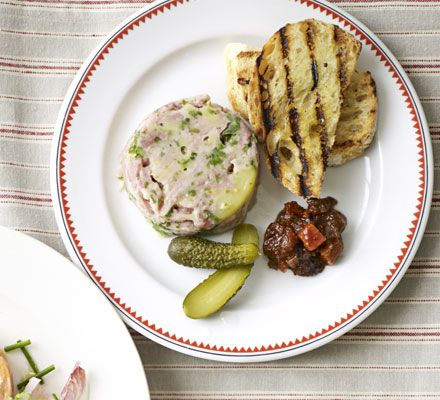 This simple starter is a great way to use up leftover ham and you can freeze it ahead