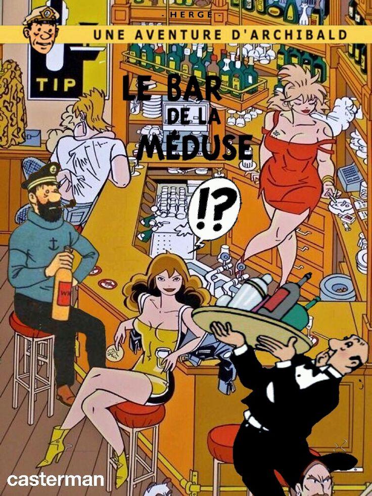 Les Aventures de Tintin - Album Imaginaire - Le Bar de la Méduse