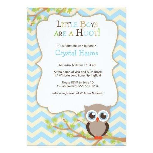 The 218 best owl baby shower gifts images on pinterest invitation chevron owl themed baby shower invitations boy filmwisefo