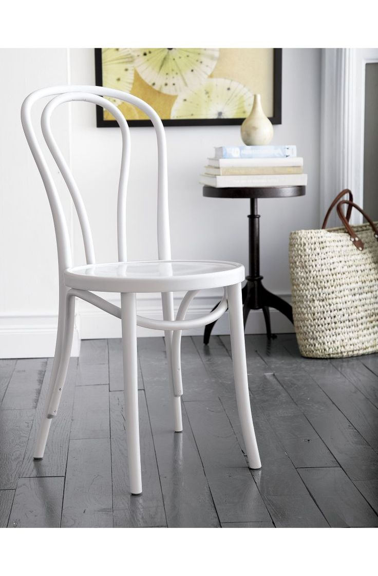 Bentwood chairs domino - Vienna White Wood Dining Chair Crate And Barrel