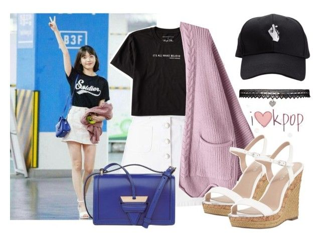 IU's look  - Back to School by gpatricia on Polyvore featuring polyvore fashion style Aéropostale Miss Selfridge Charles by Charles David Loewe Betsey Johnson clothing