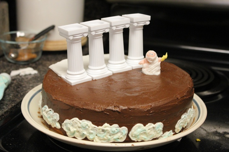 Greek Mythology Zeus Cake Birthdays Galore Pinterest