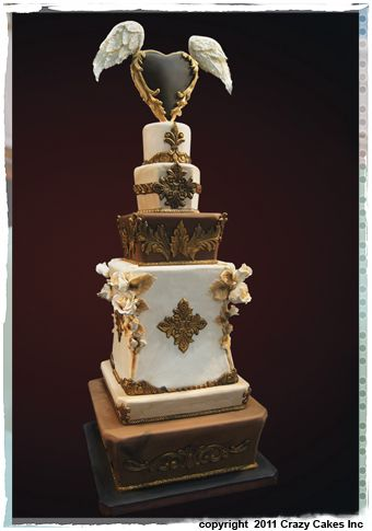 Wedding Cake from CrazyCakes of Austin, Texas