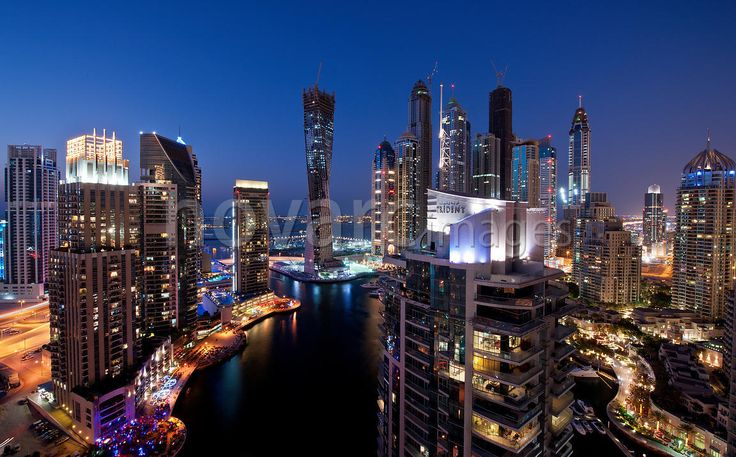 Dubai Marina in the evening, UAE