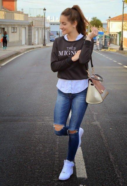 LUXURY CONNOISSEUR || Kallistos Stelios Karalis || follow me + ripped jeans Llamativas zapatillas de moda | Zapatillas de mujer