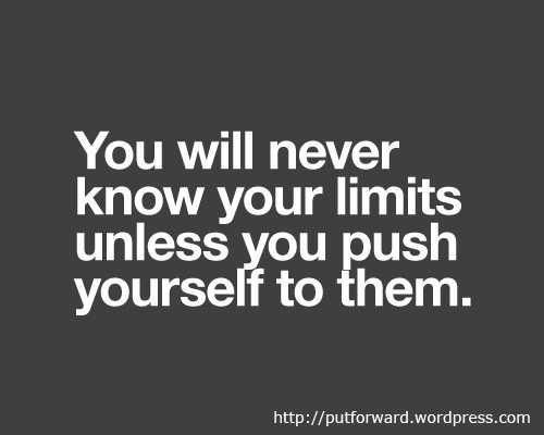 Finding one's limits can be difficult, when one's limits are so high.
