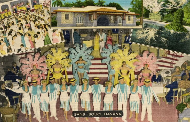 1950S HAVANA RESTAURANT & NIGHT CLUB SANS SOUCI POSTCARD