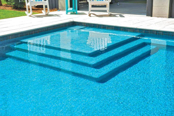 Baja Pool Step by Blue Haven Pools Charleston