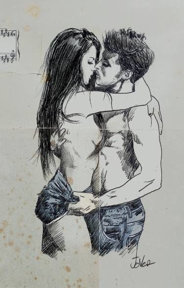 "Saatchi Art Artist LOUI JOVER; Drawing, ""hot denim"" #art"