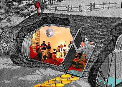 50s Bomb Shelters | Cool bomb shelter; disco ball optional!
