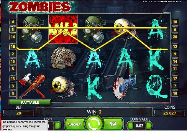 Hrací automaty Zombies - Pokud vás zajímají zombíci, možná se i těšíte na apokalypsu nemrtvých, pak určitě vyzkoušejte hrací automat Zombies od společnosti NetEnt, a budete velmi příjemně překvapeni. #HraciAutomaty #VyherniAutomaty #Jackpot #Vyhra #Zombies - http://www.vyherni-automaty-online.com/automaty-hry/hraci-automaty-zombies