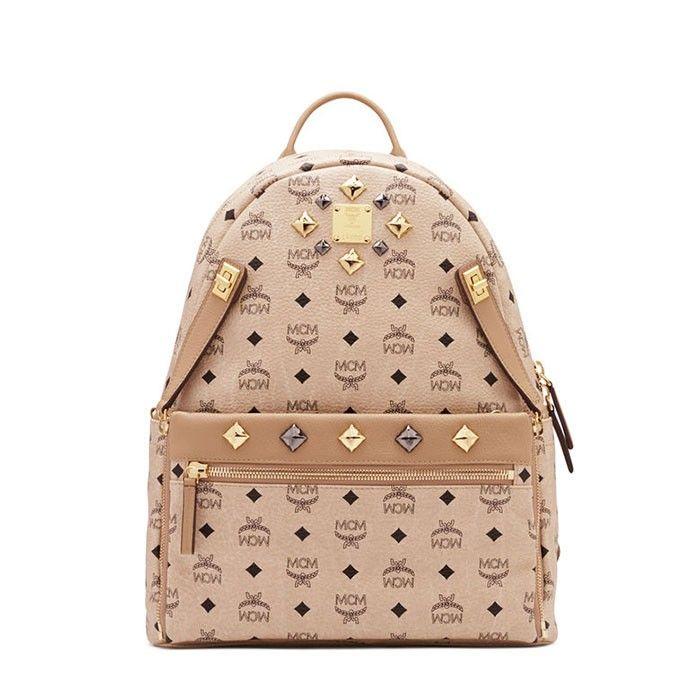 MCM Medium Dual Stark Backpack In Beige. bag, сумки модные брендовые, bag lovers,bloghandbags.blogspot.com