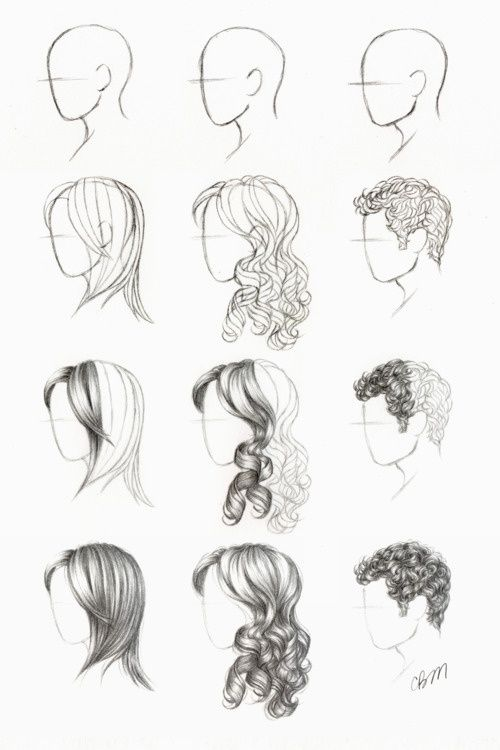 How to draw hair.                                                                                                                                                                                 More