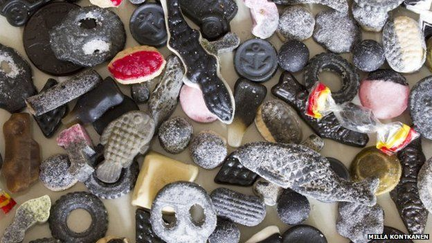 Finnish salmiakki sweets - salty licorice - YUM!