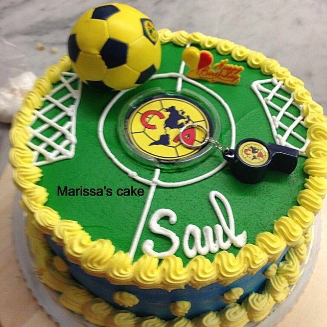 Club America birthday cake. Visit us Facebook.com/marissa'scake or www.marissa'scake.com