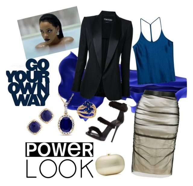 My Power Look by jessann-harrold on Polyvore featuring polyvore fashion style T By Alexander Wang Tom Ford Giuseppe Zanotti Jeffrey Levinson Allurez Frederic Sage Lord & Taylor clothing Blue girlpower powerlook