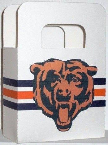 Chicago Bears Favor Bags. $2.00, via Etsy.